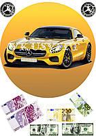 Съедобная печать на вафельной бумаге Автомобиль (019)