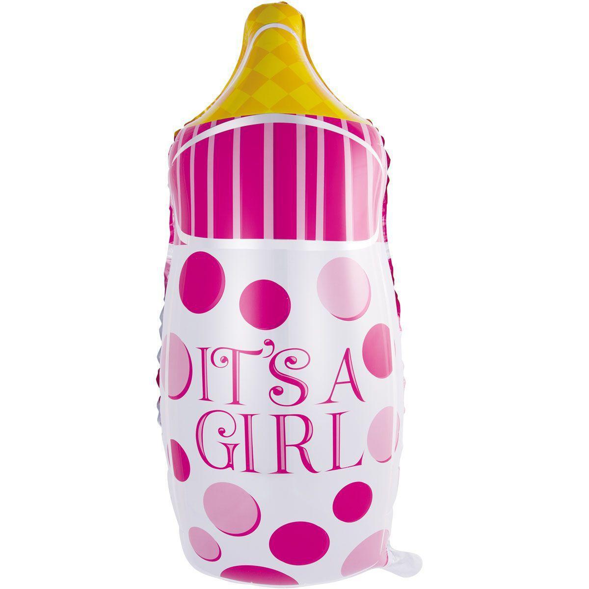 Гелієва кулька Бутилочка рожева