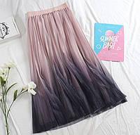 Женская юбка из фатина с люрексом