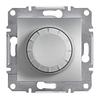 Светорегулятор поворотный 40-600 Вт Алюминий Schneider Asfora plus (EPH6400161)