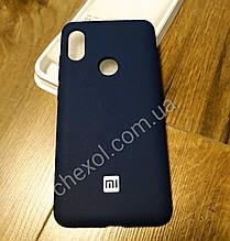 Soft-touch Silicone Cover для Xiaomi Redmi 6Pro / Mi A2 Lite Синий