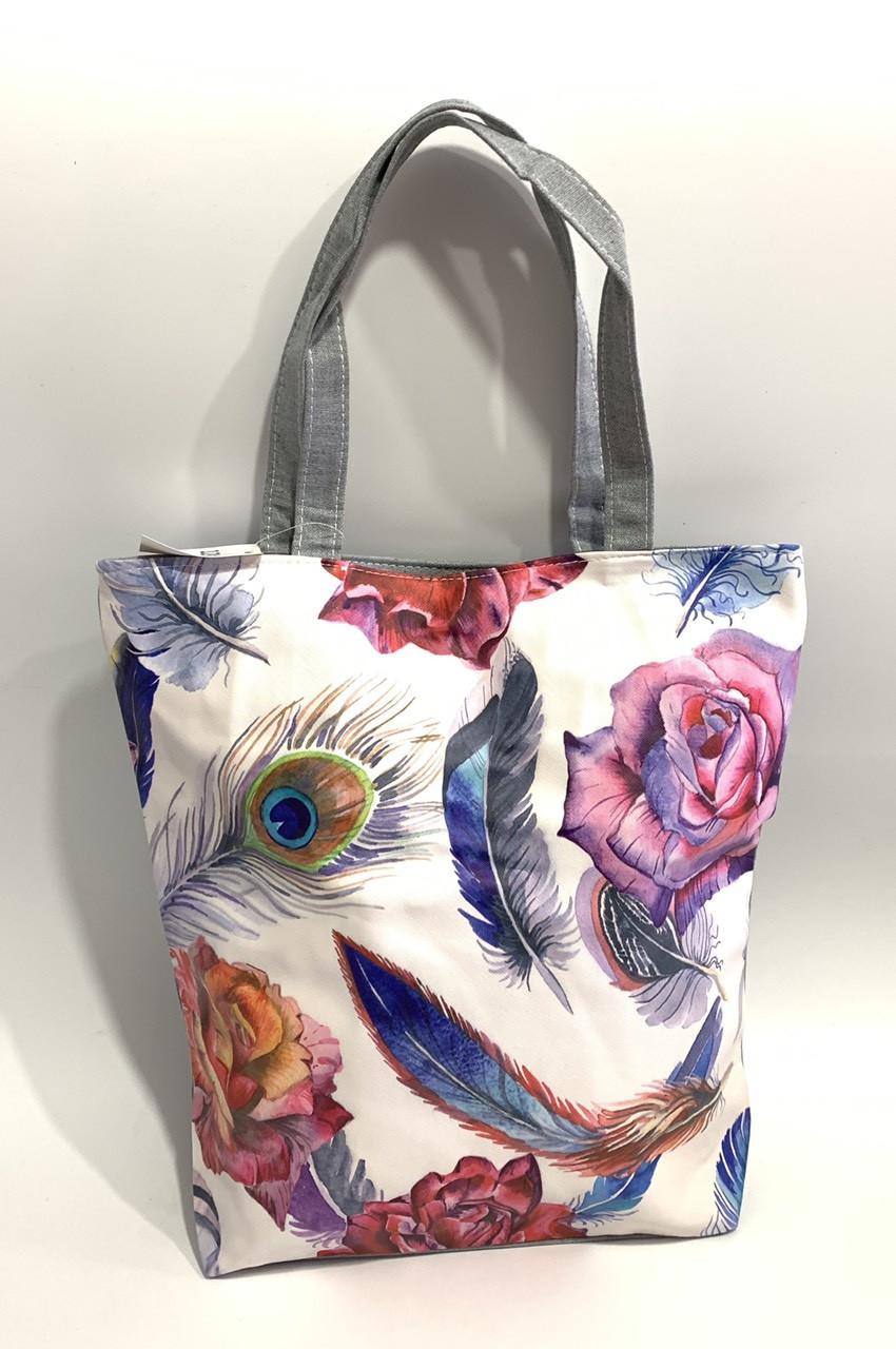 4b402ba183d3 Женская пляжная сумка шоппер перья: продажа, цена в Одессе. сумки ...