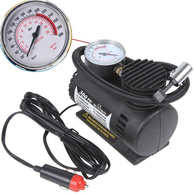 Повітряний компресор Air Compressor 300pi PSI автомобільний портативний багатофункціональний насос для коліс