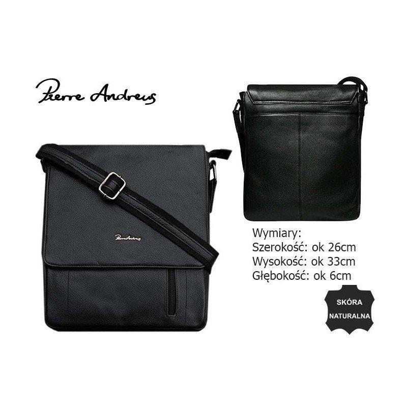 Шкіряна сумка Pierre Andreus 788-NDM-PA
