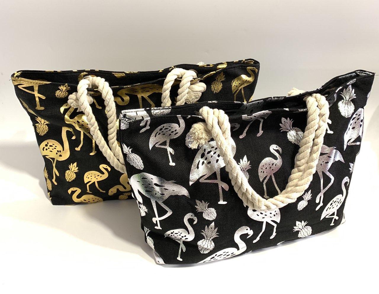 Пляжная сумка фламинго