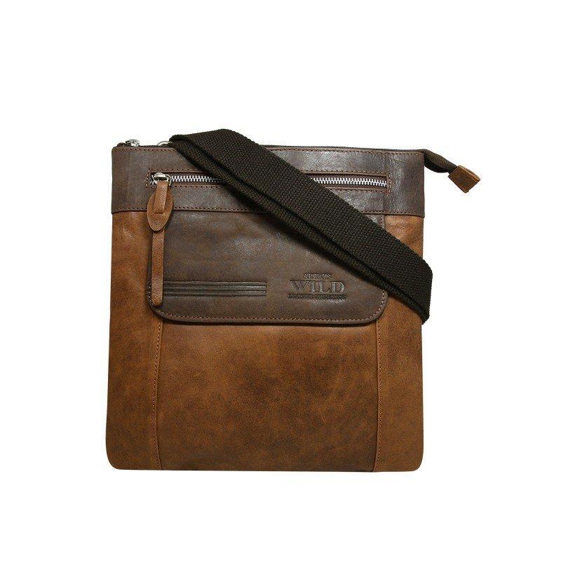 Мужская  сумка - планшет из комбинированной кожи Always Wild код 4