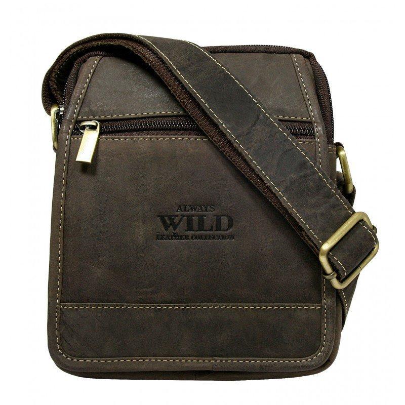 Мужская  сумка из натуральной кожи кожи Always Wild код 51