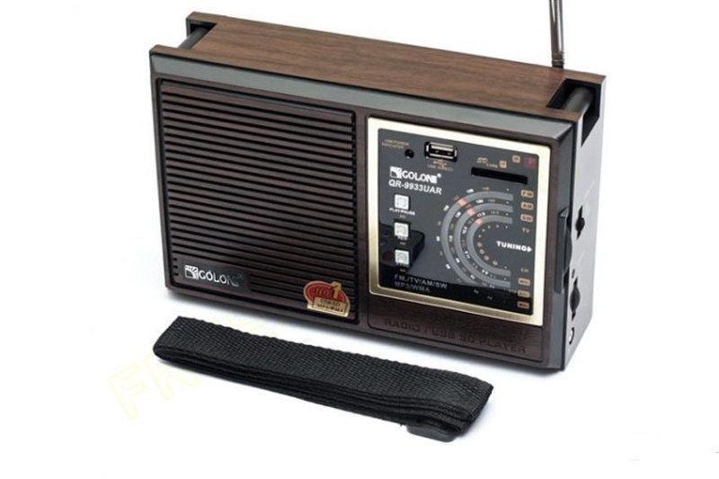 Портативное радио  Golon RX-133   с пультом Встроенный аккумулятор USB вход