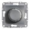 Светорегулятор поворотный 40-600 Вт Сталь Schneider Asfora plus (EPH6400162)