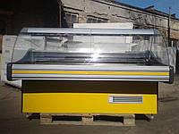 Холодильная витрина Технохолод 1,85 м. б/у, гастрономическая витрина холодильная б у, холодильный прилавок бу