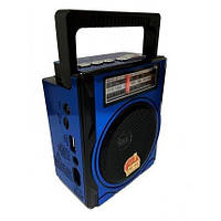 Радио-магнитола Golon RX-1435 синяя с USB + SD кардридер, фото 1