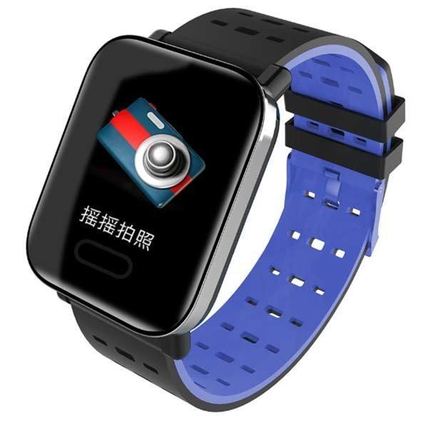 Часы Smart Bakeey A6 синие  пульс, артериальное давление, уровень кислорода