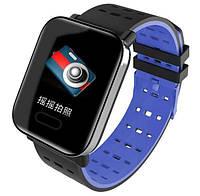 Годинник Smart Watch Phone A6 сині вміють вимірювати пульс, артеріальний тиск, рівень кисню в крові., фото 1
