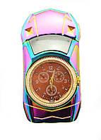 Электронная Аккумуляторная Металлическая Зажигалка 813 USB + Часы, фото 1