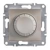 Светорегулятор поворотный 40-600 Вт Бронза Schneider Asfora plus (EPH6400169)
