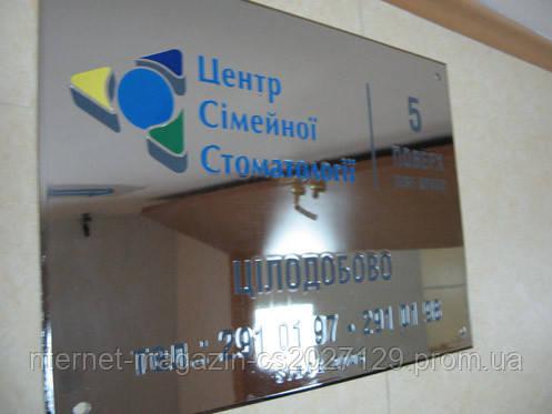 Табличка для компании под заказ из металла