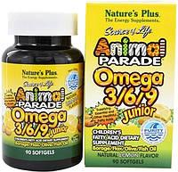 Жирні кислоти для дітей Nature's Plus Animal Parade Omega 3/6/9 Junior 90 Softgels