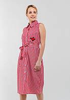 Элегантное летнее женское хлопковое платье без рукавов Modniy Oazis красный 90307/1, фото 1