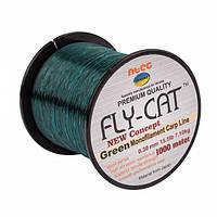 Леска NTEC Fly Cat Green Monofilament Carp Line 1000м, Ø0.30мм, 15.5lb/7.1кг