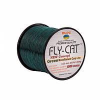 Леска NTEC Fly Cat Green Monofilament Carp Line 1000м, Ø0.35мм, 20.5lb/9.4кг