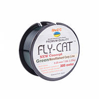 Леска NTEC Fly Cat Green Monofilament Carp Line 300м, Ø0.20мм, 7.0lb/3.2кг