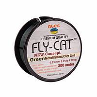 Леска NTEC Fly Cat Green Monofilament Carp Line 300м, Ø0.23мм, 9.25lb/4.2кг