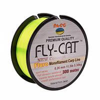Леска NTEC Fly Cat Fluro Monofilament Carp Line 300м, Ø0.26мм, 11.5lb/5.3кг