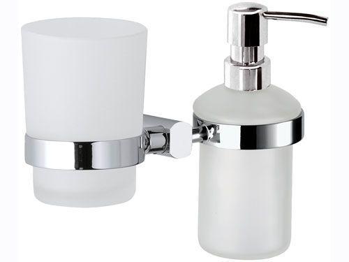 Стакан для зубных щёток с дозатором для жидкого мыла REMER FR18