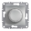 Светорегулятор поворотный с подсветкой 40-600Вт Алюминий Schneider Asfora plus (EPH6500161)