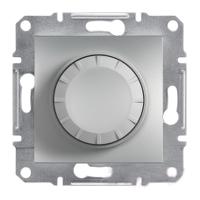 Светорегулятор поворотный с подсветкой 40-600Вт Алюминий Schneider Asfora plus (EPH6500161), фото 1