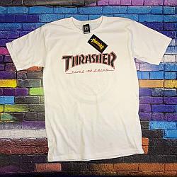 Футболка Independent x Thrasher белая