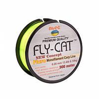 Леска NTEC Fly Cat Fluro Monofilament Carp Line 300м, 0.28мм, 13.4lb-6.1кг