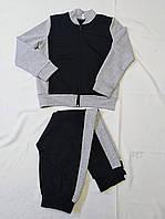 Детский спортивный костюм для мальчиков.Цвет черный+серый