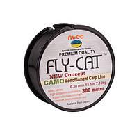 Леска NTEC Fly Cat Camo Monofilament Carp Line 300м, Ø0.30мм, 15.5lb/7.1кг