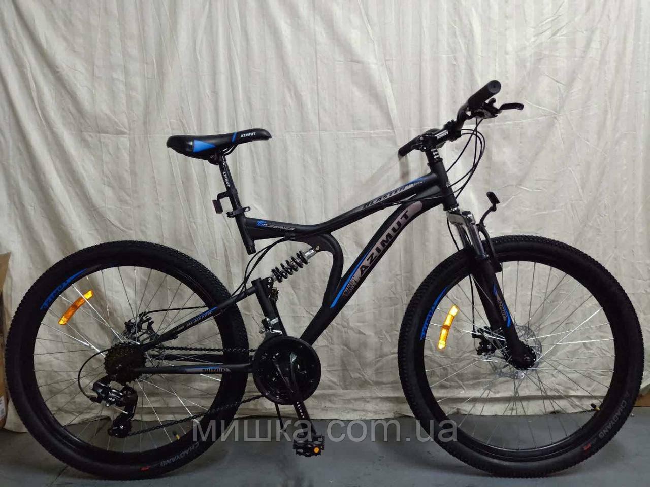 """Велосипед горный двухподвесной  Blaster 26"""" черно-синий"""