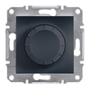 Светорегулятор поворотный с подсветкой 40-600Вт Антрацит Schneider Asfora plus (EPH6500171)