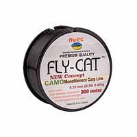 Леска NTEC Fly Cat Camo Monofilament Carp Line 300м, 0.35мм, 20.5lb-9.4кг