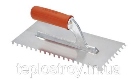 Шпатель для плитки з похилими зубцями 28х13 см 8 мм