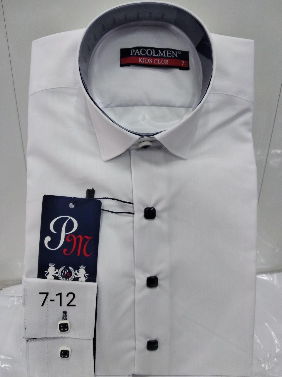 Детская однотонная рубашка Pacolmen 7-12