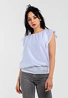Модна річна шифонова двошарова жіноча блузка вільного крою Modniy Oazis білий 90310/1, фото 1