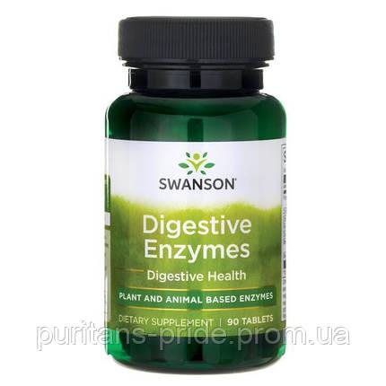 Пищеварительные ферменты, 90 таблеток, Digestive Enzymes, Swanson, фото 2