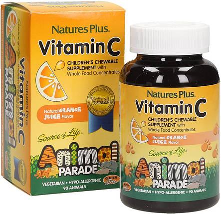 Вітамін С для дітей Nature's Plus Animal Parade Vitamin C 90 Animals, фото 2