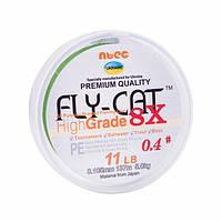 Шнур плетеный NTEC FlyCat X8 Oliva Green 137м, Ø0.105мм, 11lb/5.0кг