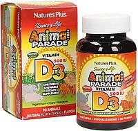 Вітамін Д3 для дітей Nature's Plus Animal Parade Vitamin D3 500 IU 90 Animals