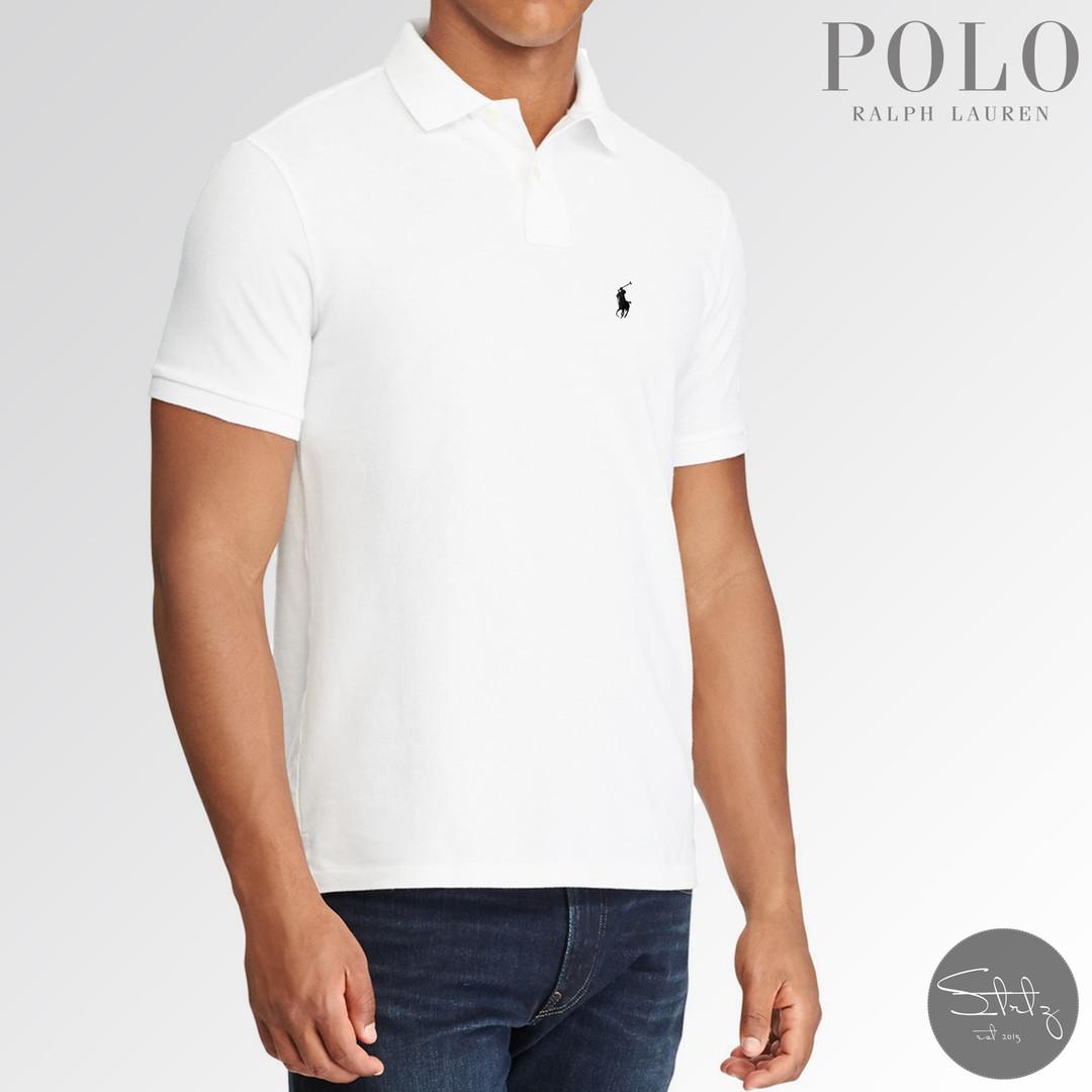 8e86d49044a Новая Мужская Белая Футболка-Тенниска Polo Ralph Lauren 100% Хлопок пике  Натуральная Рубашка Поло