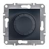 Светорегулятор поворотный 20-315 Вт Антрацит Schneider Asfora plus (EPH6600171)