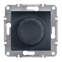 Светорегулятор поворотный 20-315 Вт Антрацит Schneider Asfora plus (EPH6600171), фото 1