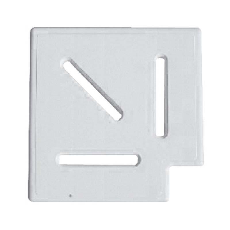 Угловой элемент AquaViva Classic и Grift для переливной решетки 90° 245/25 мм (белый)