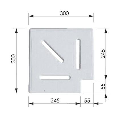 Угловой элемент AquaViva Classic и Grift для переливной решетки 90° 245/25 мм (белый), фото 2