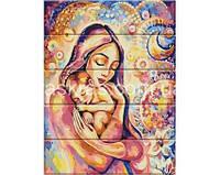 """Картина по номерам на дереве """"Счастье материнства"""" ASW034"""